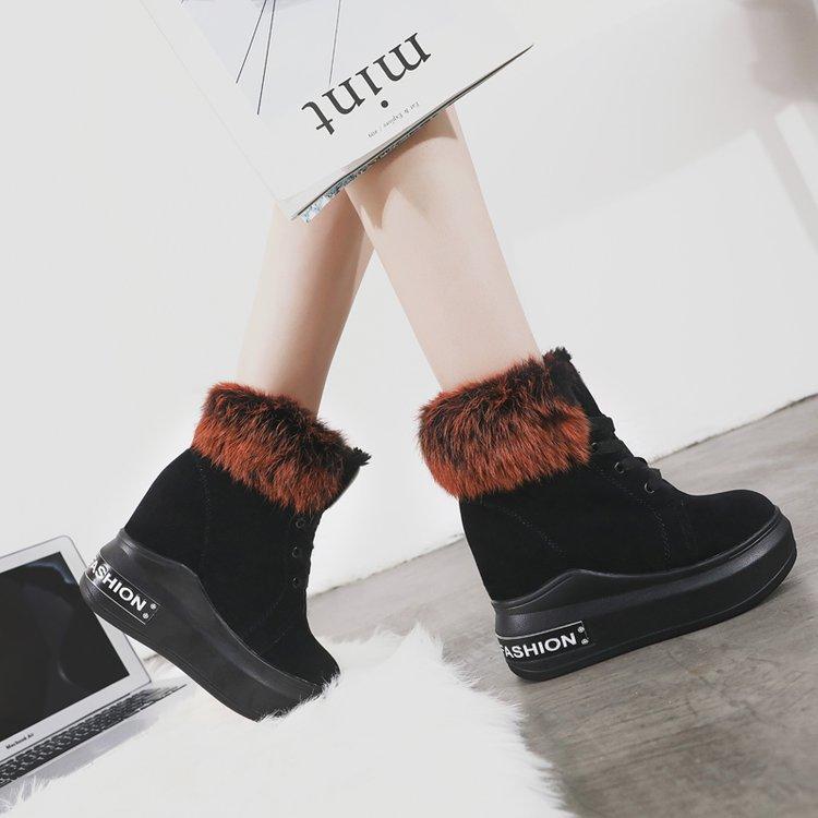 Caliente De Plataforma Venta Khaki Moda Rebaño Zapatos Tob Las Mujeres Nieve Invierno Encaje Peluche Botas red Juguete 2018 wq4xf5Ef