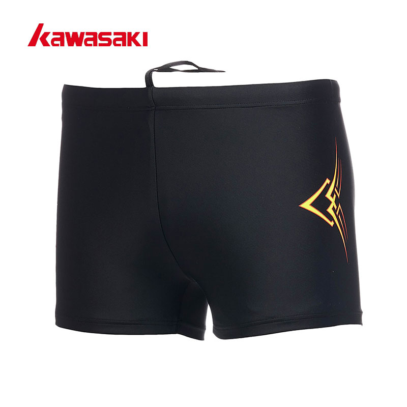 2017 Kawasaki Brand Mens Swimwear Swimming Trunks Man Swimsuit Swim Briefs Beach Short Quick Dry Black Blue Size M-3XL SW-U1001