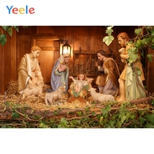 Christian Jesus Nativity Scene Baby Christmas Photography Backgrounds Customized Vinyl Photographic Backdrops For Photo Studio цены