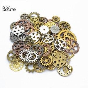 Image 1 - BoYuTe (500 gramme/lot) mélange Styles métal Steampunk engrenages bricolage vapeur Punk alliage bijoux accessoires