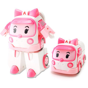 Image 2 - 4pcs Robocar Korea Robot Kids Toys Anime Action Figure Super Wings Poli Toys For Children Playmobil Juguetes