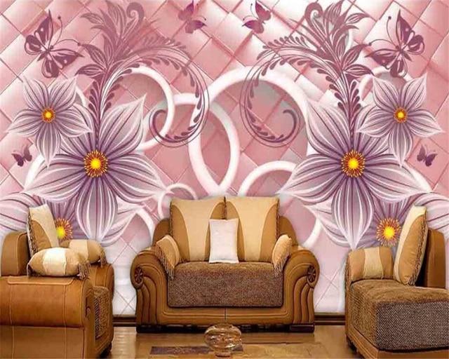 Beibehang Custom Wallpaper Home Decorative Mural 3D Circle Warm ...