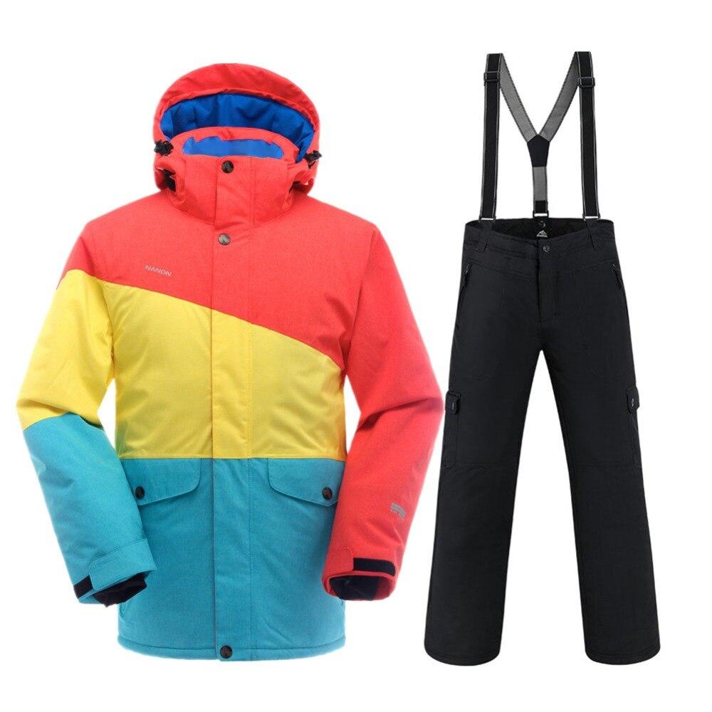 SAENSHING hiver Ski costume hommes imperméable 10 K chaud Ski veste neige costumes en plein air montagne Ski costume respirant snowboard ensemble