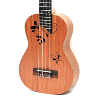 26 tenor all Mahogany Butterfly 4 Strings ukelele Hawaii mini small ukulele guita travel acoustic guitar Uke Concert
