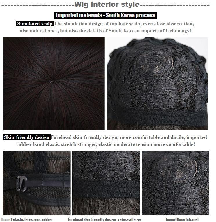 HSIU Högkvalitativ 100cm lång rak peruk centralt parti Cosplay - Maskeradkläder och utklädnad - Foto 6