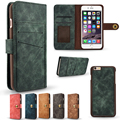 For iPhone 6 6s Retro Business 2 in 1 Hybrid Magnetic Flip Wallet Phone Case For  iphone 6/6s plus  Cover with Card Slot CL1455