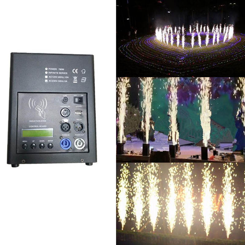 Led Stage Lights Smokeless Sparkular Cold Fireworks Fountain Powder Jet 2-4m Remote Control Wedding Show Fog Machine Party Light