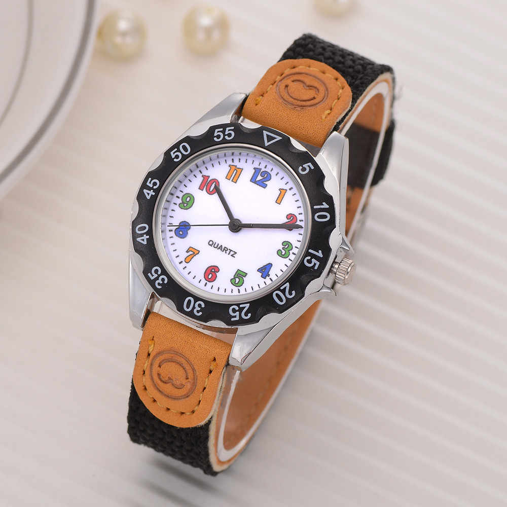 Kids Girls women Fashion Colorful Strap Arabic Number Sport Quartz Wrist Watch Colck fashion casual stainless steel watches A40