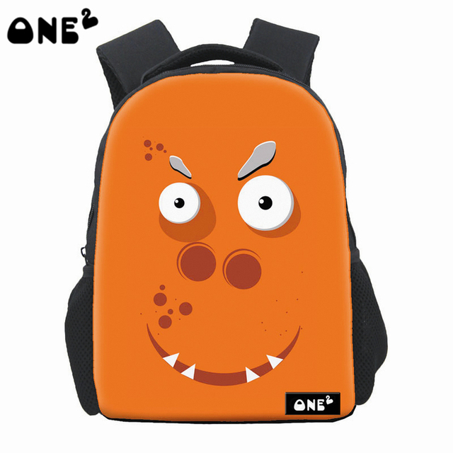 585145b505 ONE2 Design cute monster pattern famous backpack for high school girls  brand backpack wholesale school bag