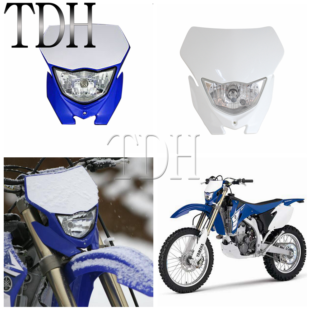 Motorcycle Headlight White Head Lamp Motocross Dirt Bike Supermoto Street Fighter Enduro Wire Diagram For Yamaha Wr 250 400 426 450 Yz Ttr Xt Mx On Alibaba Group