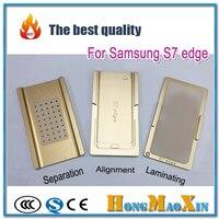 3 unids/set G9350 G9280 G9500 G9550 de Alineación de La Pantalla Táctil LCD/OCA laminadora/Molde Separador para Samsung S6 S7 S8 Nota 4 Borde Más