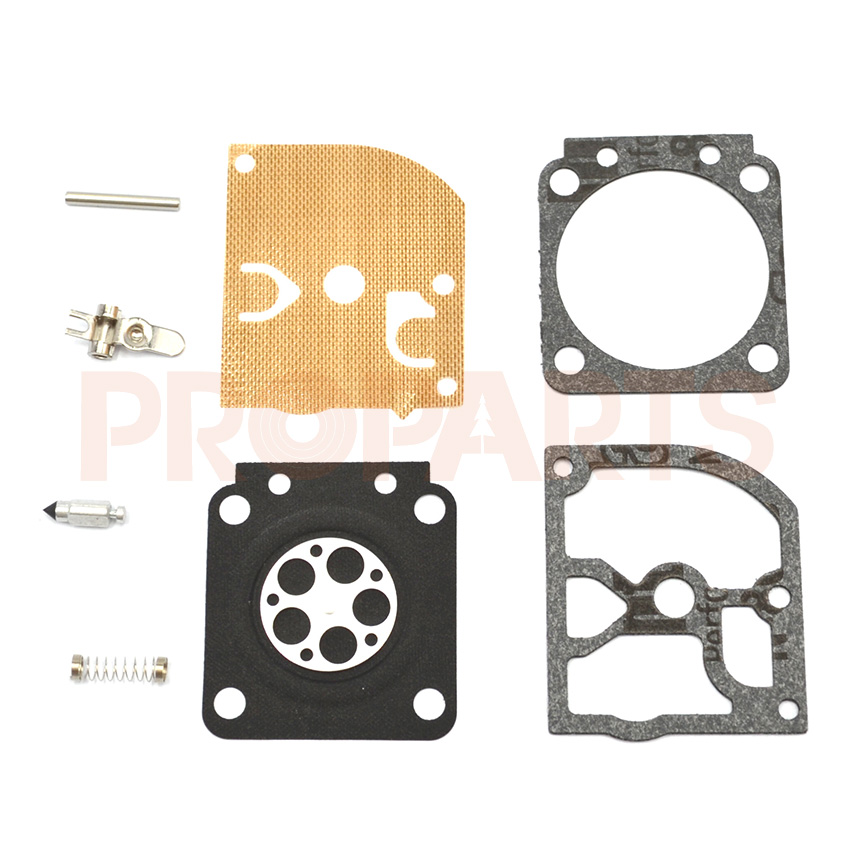 10 Set Zama Carburetor Repair  Kit For STIHL MS 180 170 MS180 MS170 018 017 Chainsaw Replacement Parts 38mm cylinder piston rings needle bearing kit for stihl ms180 ms 180 018 chainsaw