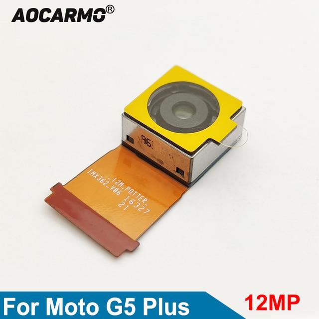 Aocarmo Replacement Rear Main Lens Back Camera Repair Flex Cable Camera Module For Moto G5 Plus XT1686 XT1681 XT1683 XT1685 12MP