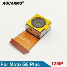 Aocarmo החלפת אחורי עיקרי עדשת מצלמה אחורית תיקון להגמיש כבל מצלמה מודול עבור Moto G5 בתוספת XT1686 XT1681 XT1683 XT1685 12MP