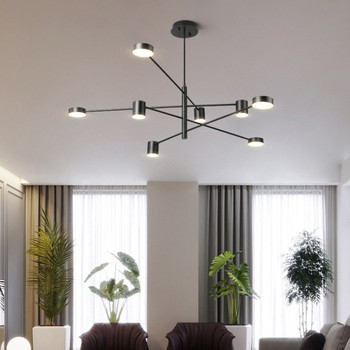 Nordic Living Room LED Lighting Modern Simplicity Chandelier Creative Personality Restaurant Bedroom Lamp Shape LED Ceiling Lamp