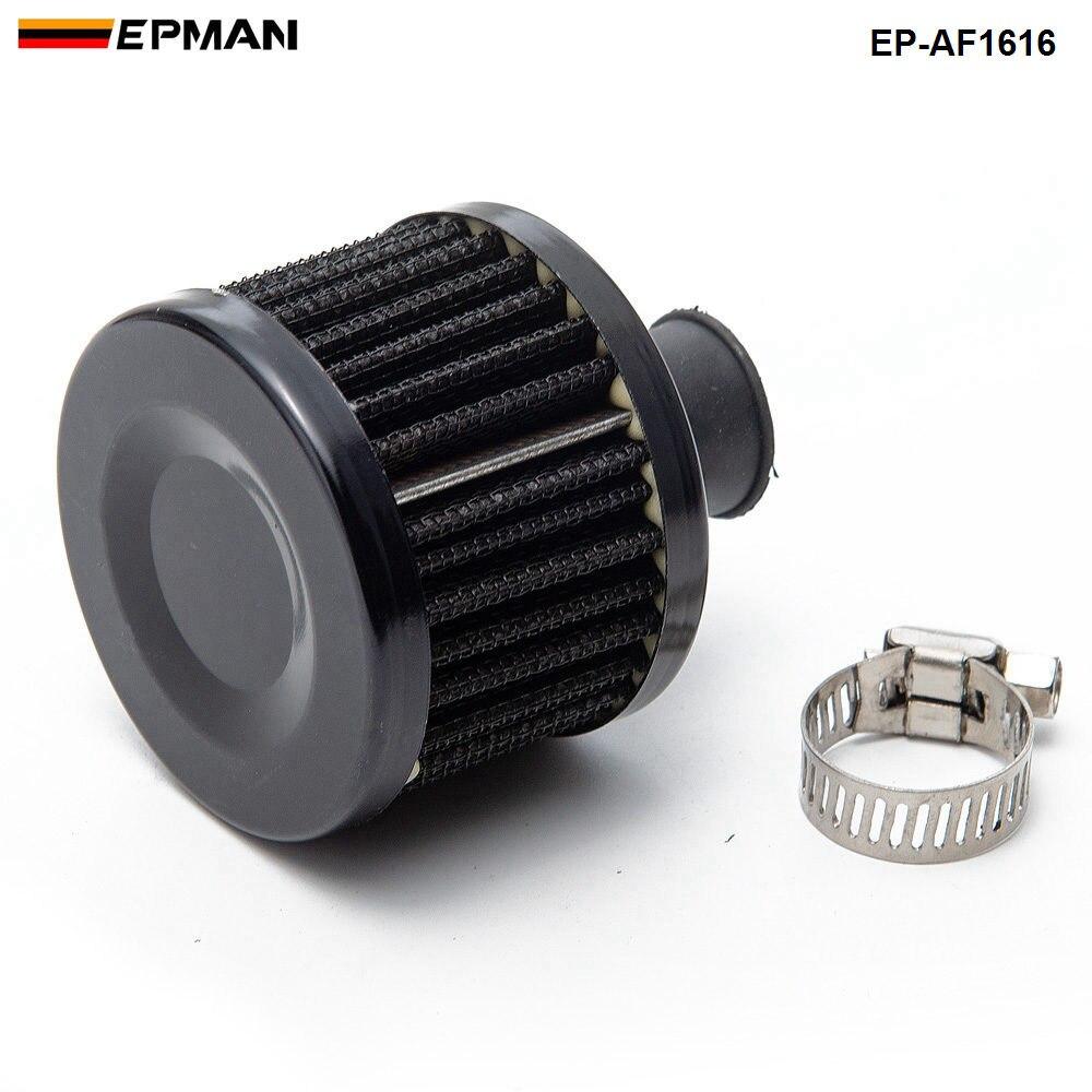 1 шт. Универсальный потока воздуха фильтр 51*51*40(Шея: 11 мм) изменение воздушного фильтра для BMW E30 3-ей серии EP-AF1616-1P - Цвет: Черный