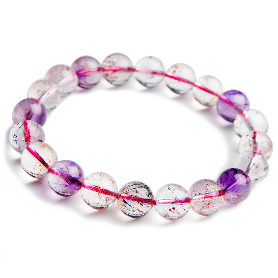 Drop Shipping 9.5mm Natural Genuine Super Seven Melody Stone Round Crystal Beads Stretch Charm Bracelet For WomenDrop Shipping 9.5mm Natural Genuine Super Seven Melody Stone Round Crystal Beads Stretch Charm Bracelet For Women