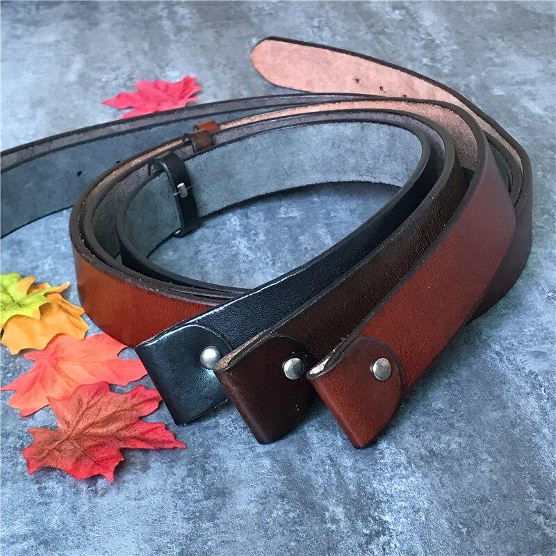 Super grueso de calidad superior de cuero genuino cinturones sin hebillas de correa de los hombres de hombre Jeans Correa Ceinture Homme 105-125 CM SP01