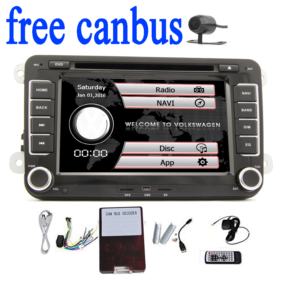 US $201 86 5% OFF|Car DVD GPS Player Navigation for Volkswagen golf 5 golf6  PASSAT B6 Eos Caddy Touran car GPS Map radio stereo bluetooth FM radio-in