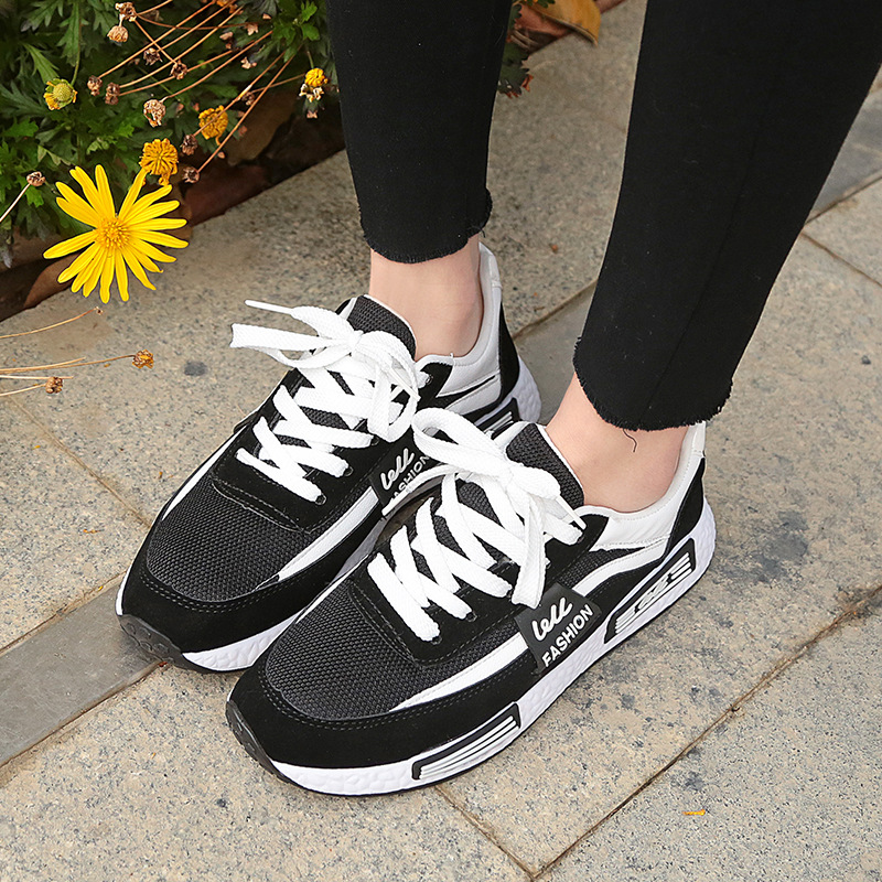 Women Summer Casual Shoes 2018 New Fashion Female Footwear Lace-Up Breathable Leisure Women Shoes Sneakers YBT1012