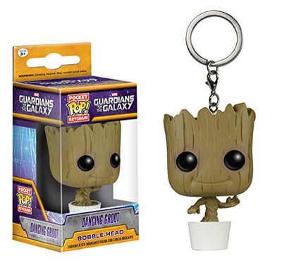 Funko פופ Keychain קפטן אמריקה ספיידרמן דמויות פעולה איור אסיפה דגם צעצועים לילדים חג המולד מתנות צבע תיבה