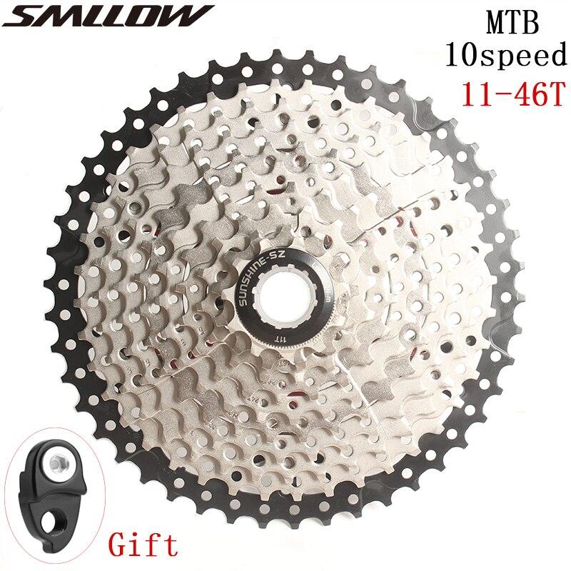 SUNSHINE-SZ велосипедная кассета 11-46T 10 скоростей 10s 46t широкое соотношение MTB горный велосипед Freewheel для деталей m590 m6000 m610 m780 X7 X9