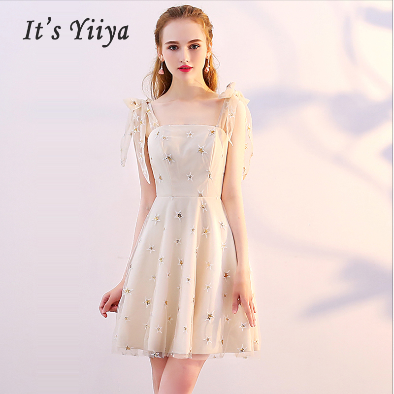 It's Yiiya Cocktail Dresses Sexy Mini Backless 2019 Slim Sweetheart Woman Party Plus Size Sleeveless Robe Cocktail E551