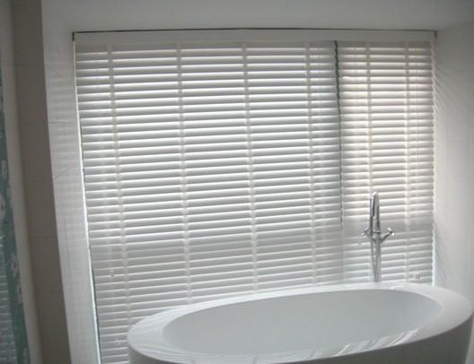 Grade Bamboo Blinds Toilet Bathroom Waterproof Shutter Aluminum Curtain  Rail High