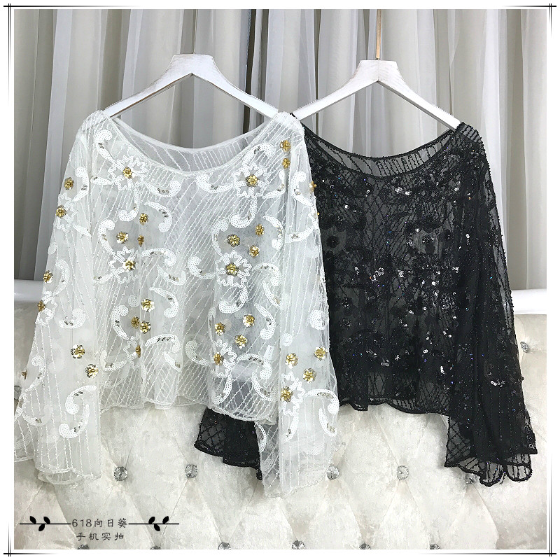 Detail Feedback Questions about Cakucool Women Beading Blouses Shirt ... 455fc66d43f4