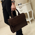 New Men Handbag Crazy Horse PU Leather High Quality Briefcase Business Messenger Shoulder Cross Body Bag Handbags