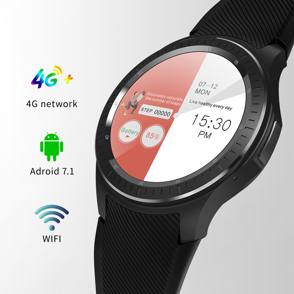 GPS Fitness Tracker Smart Watch DM368 Plus Android 7.14G 1G+16GB WIFI Bluetooth Heart Rate Pedometer Call Reminder SmartWatch