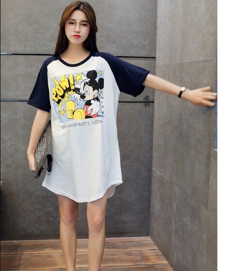 ffe4aceb445 Women Summer Funny Cartoon Mouse Print Mini Dress Ladies Oversized T Shirt  Dresses Loose Long T-SHIRT C1396