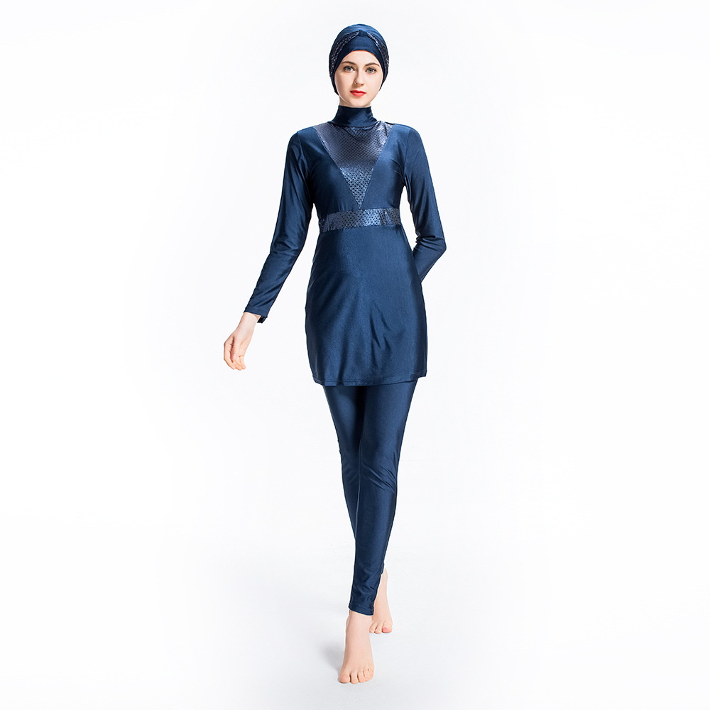 2019 Printed Floral Modest Muslim Swimwear Islamic Swimsuits Women Girls Plus Size Full Cover Burkinis Sport Clothing 4XL