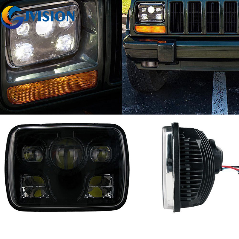7X6 Projector LED Headlight High/Low Beam Replacement DOT Black housing Fits H6014,H6052,H6054,6054 Sealed beam headlight аккумулятор yoobao yb 6014 10400mah green
