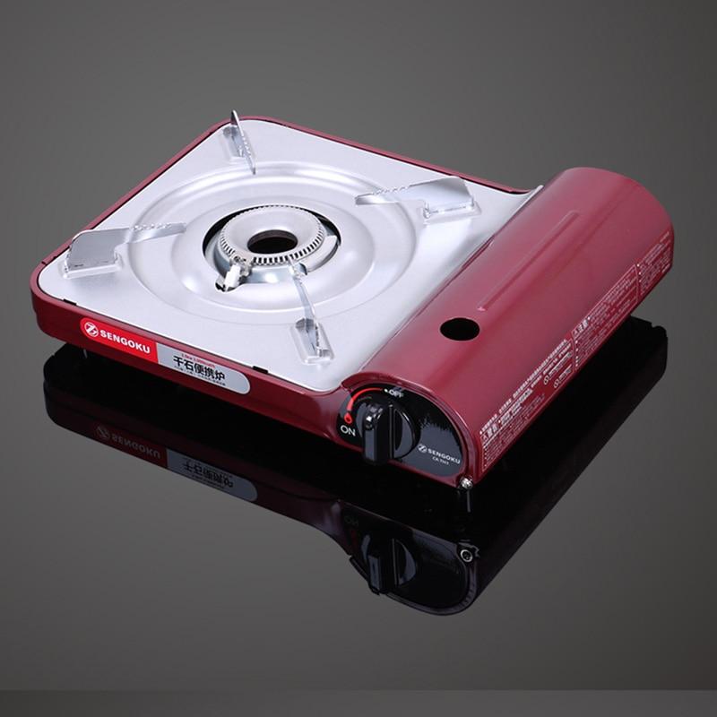 Cuisinière à gaz Portable Ultra-mince poêle à la maison en alliage d'aluminium pique-nique en plein air Camping cuisinière à gaz Portable four à Butane - 4
