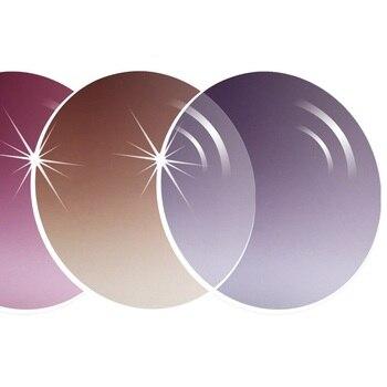 9921d0d585 Cubojue gradiente marrón Grey 1,56 lente 1,61 1,67 reflexión fuerte de la  luz Ultra-Lentes de prescripción óptica