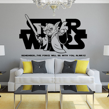 Star Wars Jedi Master Yoda Quote Home Decor Fashion Wall Sticker Room Decoration Design Poster Mural W204