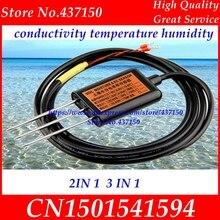مستشعر التوصيل الكهربائي للتربة 0 2 فولت 4 20mA RS485 رطوبة التربة درجة حرارة التربة الرطوبة التربة EC الاستشعار اثنين في واحد