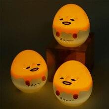 1Pcs Gudetuma Lamp 7.5CM Yellow Egg Lazy Gudetama Anime PVC Figure Toys Light-up Toy For Children Gift Sleep Warm Home Lamp