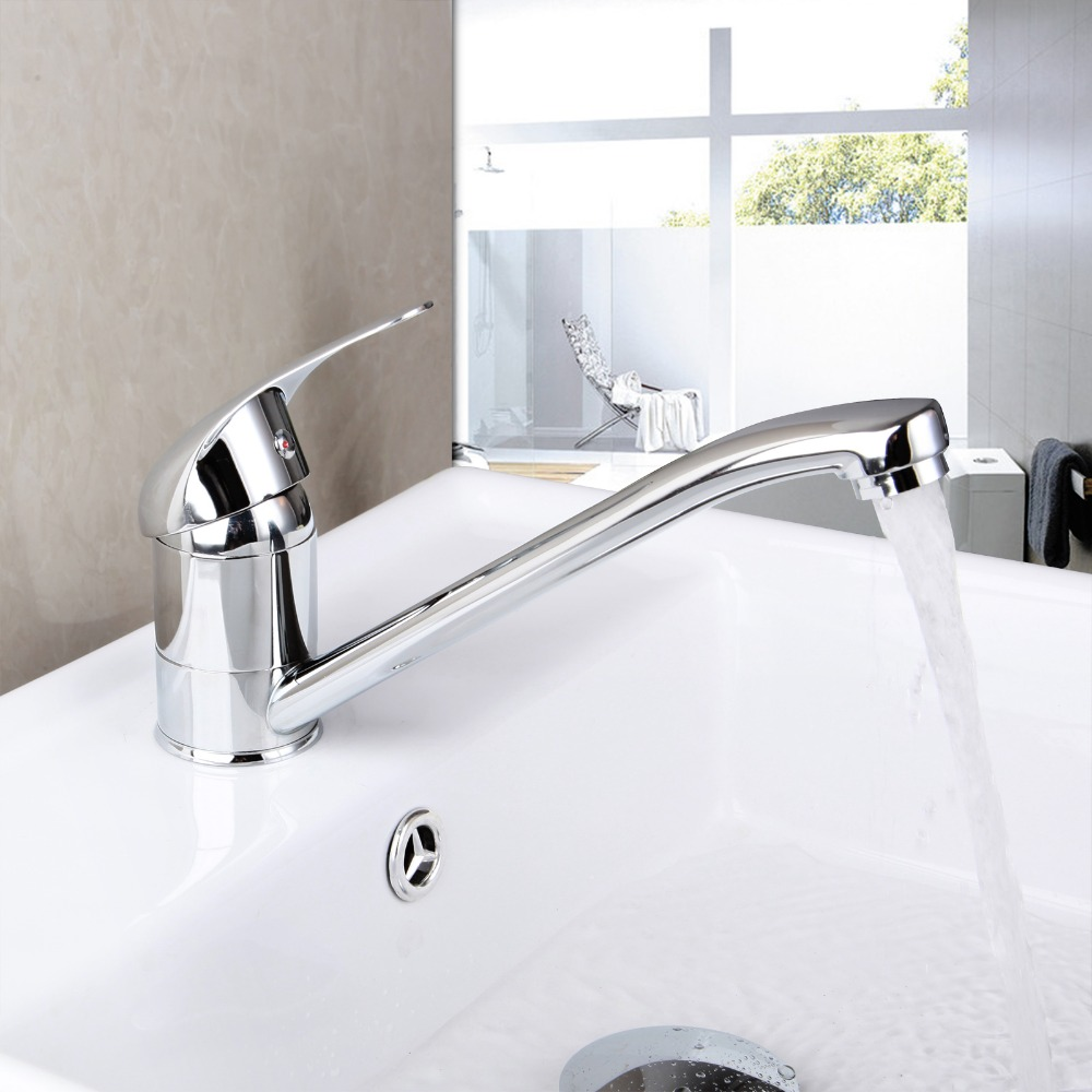 Contemporary Superior Quality Chrome Polished Deck Mounted Single Handle Pull Down Hot Cold Water Cute Kitchen