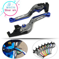 Logo Gsr Blue Titanium Cnc Foldable Extensible Motorcycle Clutch Lever Levers For Suzuki Gsr400 2008 2009