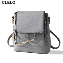 CLELO Fashion Backpacks Women PU Backpack School Bags Students Backpack Ladies Women's Travel Bags Fashion Package Mochila