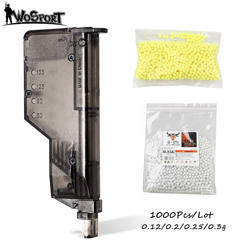 1000 Rounds Airsoft Paintball <font><b>BBs</b></font> Bullets 0.12g/0.2g/0.25g/0.3g Strike <font><b>Ball</b></font> <font><b>BB</b></font> Speed Loader Air Gun <font><b>BB</b></font> <font><b>Balls</b></font> for Shooting Games image
