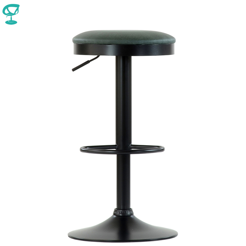 95571 Barneo N-129 FPU Leather Kitchen Chair Breakfast Bar Stool Swivel Bar Chair Green Color Black Leg Free Shipping In Russia