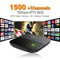 Octa Core Android Arab IPTV BOX T95VPRO Free 1500 Europe Arabic IPTV Channels S912 2GB/16GB TV Box KODI WIFI H265 Media Player