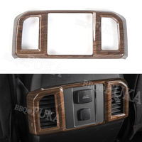 ABS Wood Style Rear Air Condition Vent Outlet Cover Trim Interior Mouldings For Ford F150 2016 2017 Accessories Car Styling