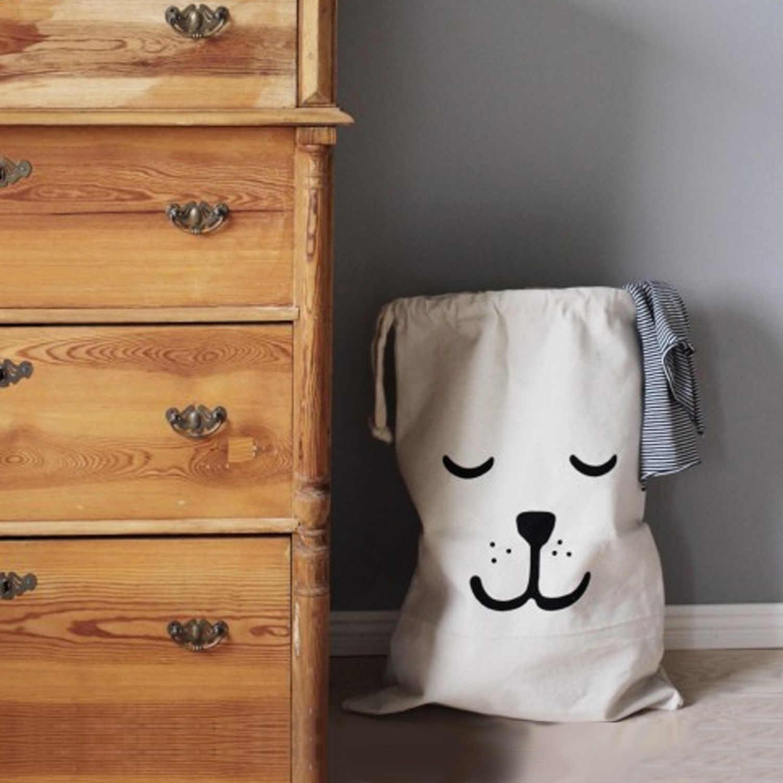 Behogar крафт-бумага для хранения милый мультфильм холст Drawstring сумка для хранения детские игрушки одежда книги Прачечная сумка органайзер для комнаты