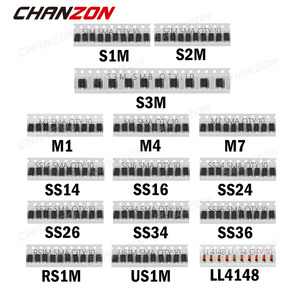 Image 1 - SMD מהיר מיתוג שוטקי דיודה מגוון ערכת סט (M1 M4 M7 S1M S2M S3M SS14 SS16 SS24 SS26 SS34 SS36 RS1M US1M LL4148)