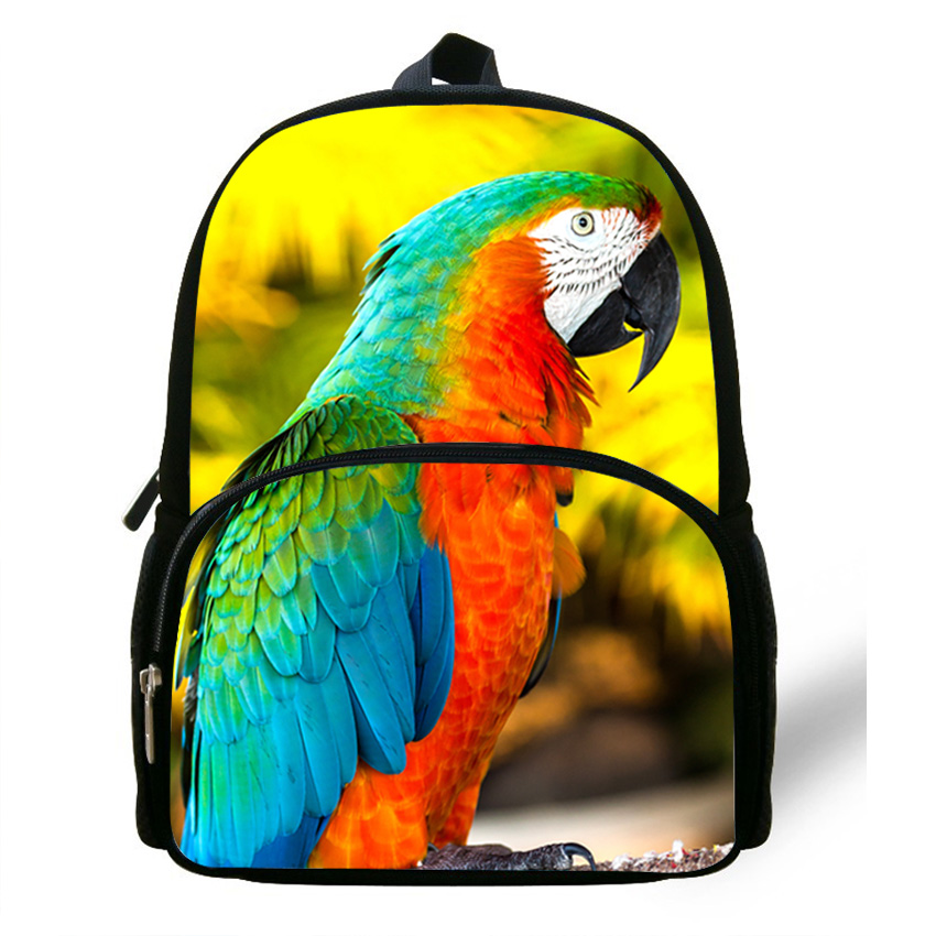 12 Zoll Mochila Schultasche Tier Rucksack Kinder Jungen Zoo Ara Rucksack Kinder Mädchen Reisetasche Casual Daypack