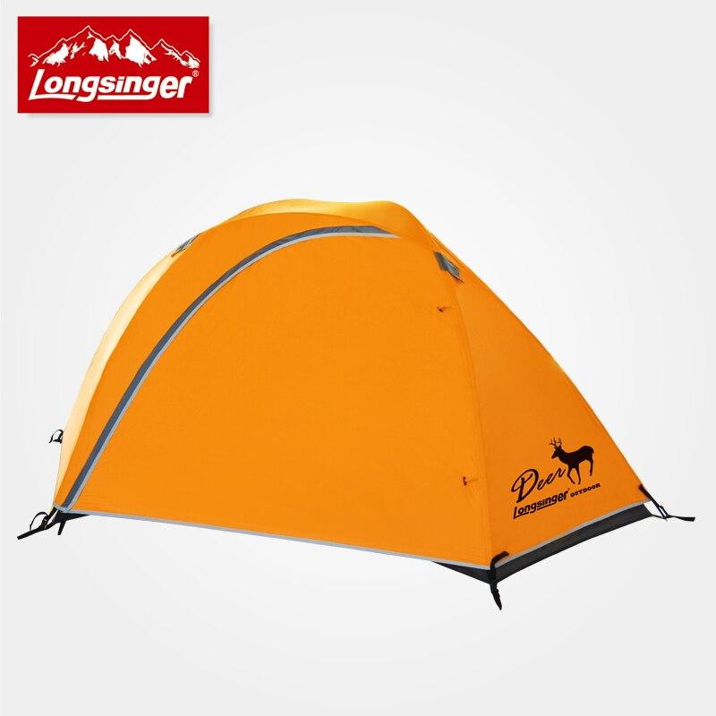 Longsinger elizabethans double layer aluminum rod outdoor camping hiking tent ultra-light rain rain proof double layer camping tent for outdoor activities green